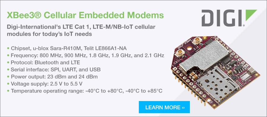 XBee3® Cellular Embedded Modems